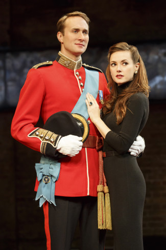 Oliver Chris and Lydia Wilson play William and Kate in King Charles III, playing the Music Box Theatre through Jan. 31. Photo courtesy of Joan Marcus.