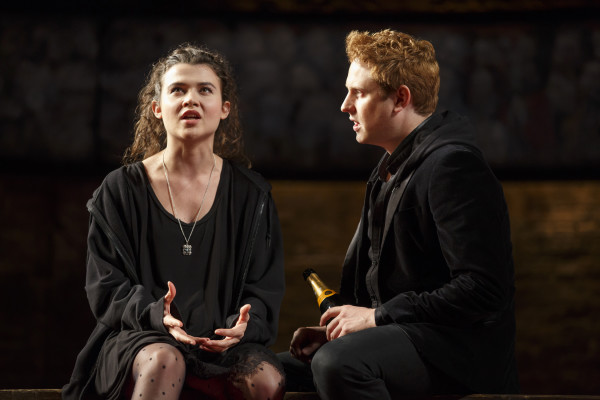 Tafline Steen and Richard Goulding struggle with the royal life in King Charles III. Photo courtesy of Joan Marcus.