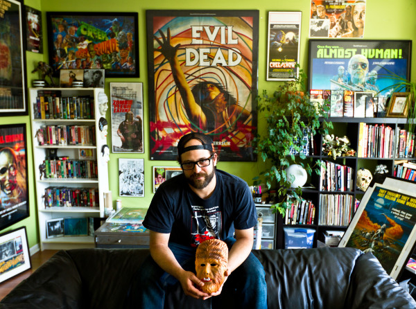 Tal Zimerman loves horror, and this is his horror cave. Photo courtesy of Don Ferguson Productions.