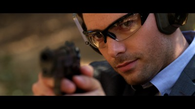 Jonathan Bennett stars in Submerged as a ex-soldier turned bodyguard. Photo courtesy of IFC Midnight.