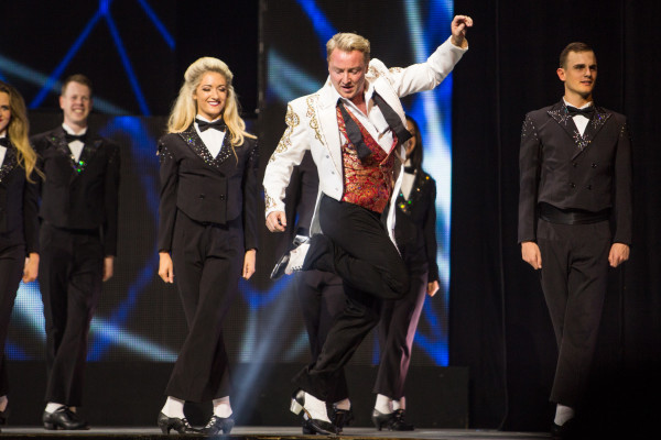 Michael Flatley plans to retire after his Broadway performances and U.S. tour in Lord of the Dance: Dangerous Games, currently playing the Lyric Theatre. Photo courtesy of Brian Doherty of Rapa Investments.