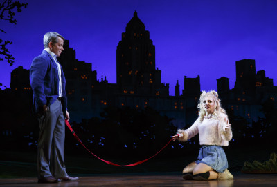 Matthew Broderick and Annaleigh Ashford star in Sylvia on Broadway. Photo courtesy of Joan Marcus.