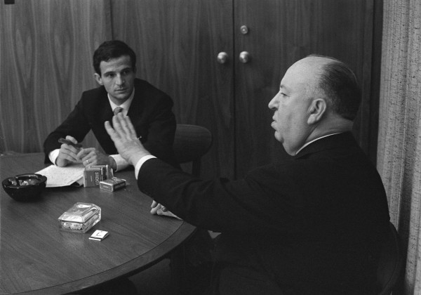 Alfred Hitchcock and François Truffaut are the subject of Kent Jones' documentary Hitchcock/Truffaut. Photo courtesy of Philippe Halsman / Courtesy of Cohen Media Group.