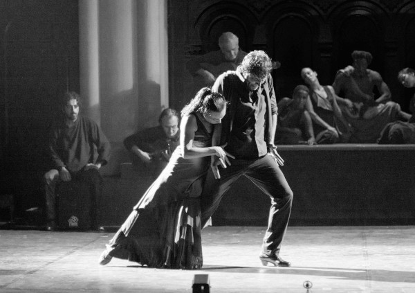 Soledad Barrio and Juan Ogallo dance in Antigona. Photo courtesy of Zarmik Moqtaderi.