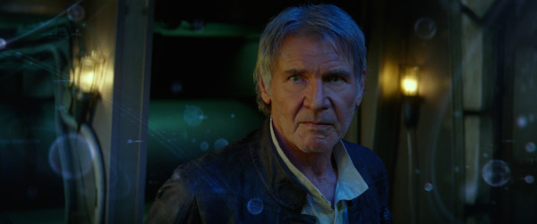 Star Wars: The Force Awakens stars Harrison Ford as Han Solo. Photo courtesy of 2014 Lucasfilm Ltd. & TM. All Right Reserved.