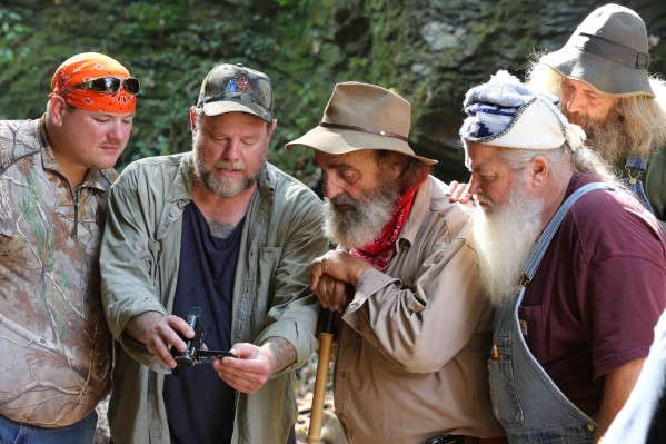 "The AIMS team, including John ""Trapper"" Tice, investigates a lead. Photo courtesy of Destination America / Jeremy Brigden."