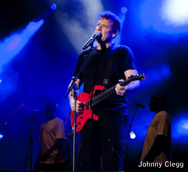 Johnny Clegg performs during one of his concerts. He is currently touring North America. Photo courtesy of SRO Artists.