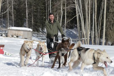 Jeremy Keller dog mushes on the new season of Edge of Alaska. Photo courtesy of Discovery Channel.